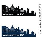 washington usa skyline logo...   Shutterstock .eps vector #705559717