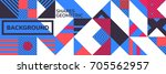 simple banner of decorative... | Shutterstock .eps vector #705562957