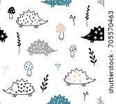 colorful seamless pattern. cute ... | Shutterstock .eps vector #705570463