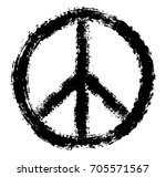 grunge peace sign.vector dirty... | Shutterstock .eps vector #705571567