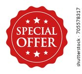 red special offer label  badge  ... | Shutterstock .eps vector #705578317