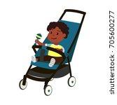 vector african baby boy on... | Shutterstock .eps vector #705600277