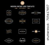 vintage labels and logo... | Shutterstock .eps vector #705617857