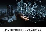 businessman on blurred...   Shutterstock . vector #705620413