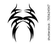 tribal tattoo art designs.... | Shutterstock .eps vector #705624547