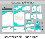 corporate identity with... | Shutterstock .eps vector #705640243