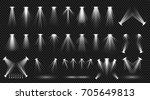 spot lighting isolated on... | Shutterstock .eps vector #705649813