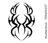tribal tattoo art designs....   Shutterstock .eps vector #705654157