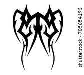 tribal tattoo art designs.... | Shutterstock .eps vector #705654193