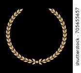 vector golden laurel wreath.... | Shutterstock .eps vector #705655657