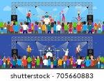 open air concerts set. music... | Shutterstock . vector #705660883