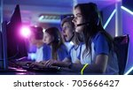 beautiful professional gamer... | Shutterstock . vector #705666427