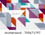 triangle pattern design... | Shutterstock .eps vector #705671797