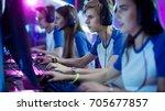 team of professional esport... | Shutterstock . vector #705677857