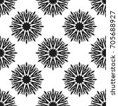 seamless pattern with abstract... | Shutterstock .eps vector #705688927