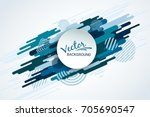 dynamic motion of geometric... | Shutterstock .eps vector #705690547