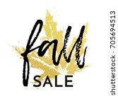 fall sale text poster for... | Shutterstock .eps vector #705694513