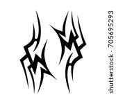 tribal tattoo art designs.... | Shutterstock .eps vector #705695293