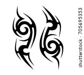 tribal tattoo art designs.... | Shutterstock .eps vector #705695353