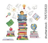 education learning knowledge... | Shutterstock .eps vector #705723523