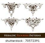 set of heraldic flourish ... | Shutterstock .eps vector #70572391