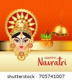 illustration of happy navratri... | Shutterstock .eps vector #705741007