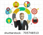 businessman or office worker... | Shutterstock .eps vector #705748513
