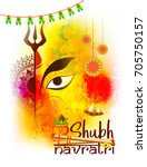 illustration of happy navratri... | Shutterstock .eps vector #705750157