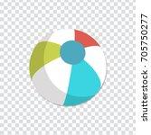 illustration of beach ball icon | Shutterstock .eps vector #705750277