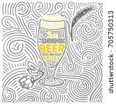 beer theme card design. the... | Shutterstock .eps vector #705750313