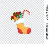 illustration of christmas card... | Shutterstock .eps vector #705751063