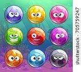 colorful transparent bubbles...