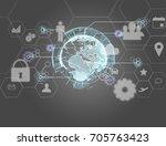view of a international... | Shutterstock . vector #705763423