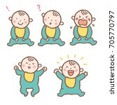 baby expression pattern... | Shutterstock .eps vector #705770797