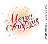 merry christmas vector...   Shutterstock .eps vector #705776143