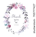 hand painted card  watercolor... | Shutterstock . vector #705777427