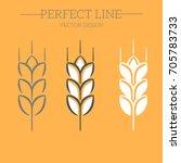 line style logotype template... | Shutterstock .eps vector #705783733