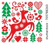 Christmas Red And Green Patter...