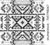 tribal abstract hand drawn... | Shutterstock . vector #705798067