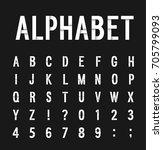 creative paper alphabet. vector ... | Shutterstock .eps vector #705799093