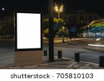 advertisement mock up in the... | Shutterstock . vector #705810103