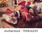 partial view of feet in... | Shutterstock . vector #705816253
