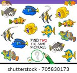 cartoon illustration of finding ... | Shutterstock . vector #705830173