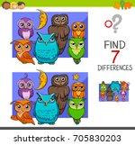 cartoon illustration of find... | Shutterstock . vector #705830203