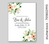 wedding card or invitation... | Shutterstock .eps vector #705832993