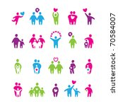 set of icons   love and family | Shutterstock . vector #70584007