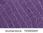 Purple Leather Gridded Pattern