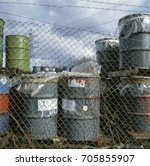 Small photo of Hazardous waste compound at back of factory, West Midlands, UK