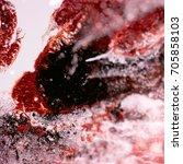 liquid acrylic paint  liquid...   Shutterstock . vector #705858103