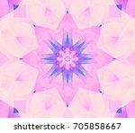 seamless pink kaleidoscope... | Shutterstock . vector #705858667
